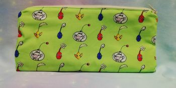 Pencil Case Made With Pikmin Inspired Fabric - Exclusive