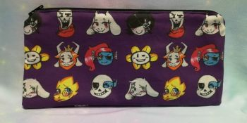 Pencil Case Made With Undertale Inspired Fabric