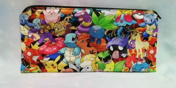 Pencil Case Made With Pokemon Inspired Fabric