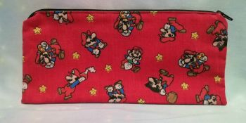 Pencil Case Made With Vintage Super Mario World Fabric