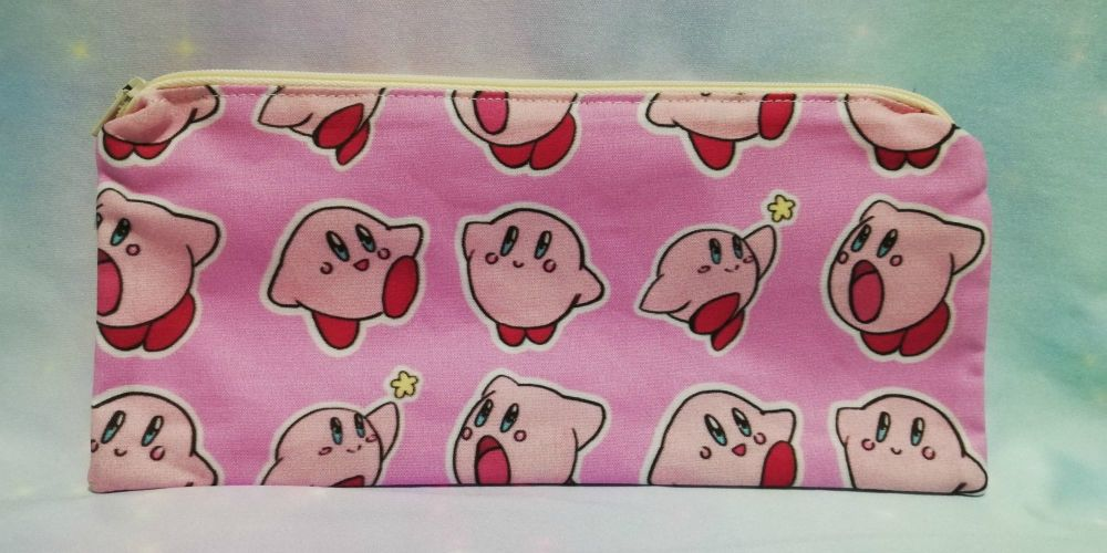 Pencil Case Made With Kirby Inspired Fabric