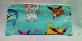 Pencil Case Made With Pokemon Fabric - Eevee Evolutions