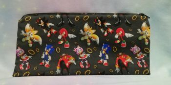 Pencil Case Made With Sonic The Hedgehog Inspired Fabric - Black