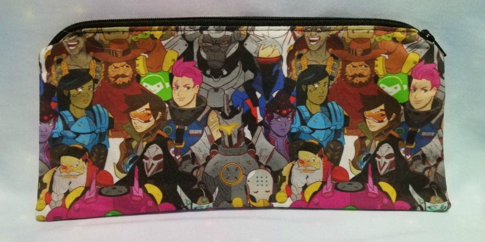 Pencil Case Made With Overwatch Inspired Fabric