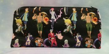 Pencil Case Made With Seven Deadly Sins Inspired Fabric