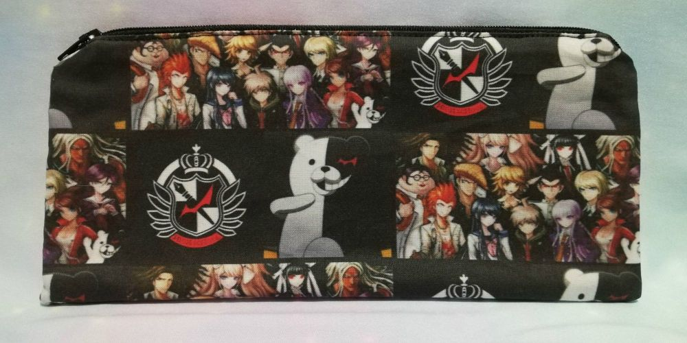 Pencil Case Made With Danganronpa Inspired Fabric