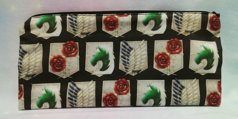 Pencil Case Made With Attack On Titan Inspired Fabric
