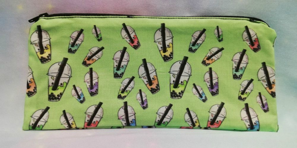 Pencil Case Made With Bubble Tea Fabric