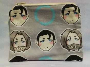Zip Pouch Made With Large Scale Detroit Become Human Inspired Fabric - Exclusive