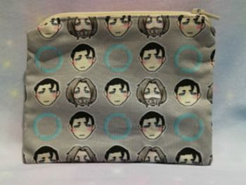 Zip Pouch Made With Small Scale Detroit Become Human Inspired Fabric - Exclusive