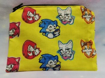 Zip Pouch Made With Sonic The Hedgehog Inspired Fabric - Exclusive