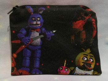 Zip Pouch Made With Large Scale Five Nights At Freddies Fabric