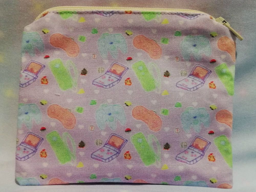 Zip Pouch Made With Kawaii Controllers Fabric - Exclusive