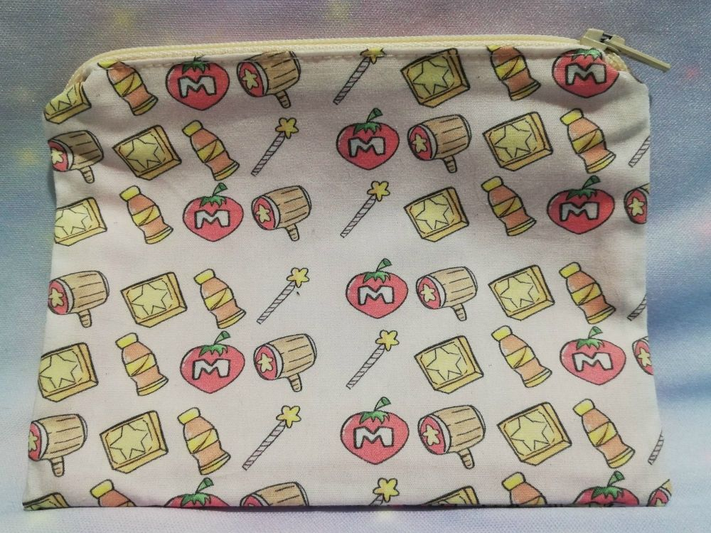 Zip Pouch Made With Kirby Dreamland Inspired Fabric - Exclusive