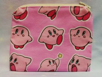 Zip Pouch Made With Kirby Inspired Fabric - Exclusive