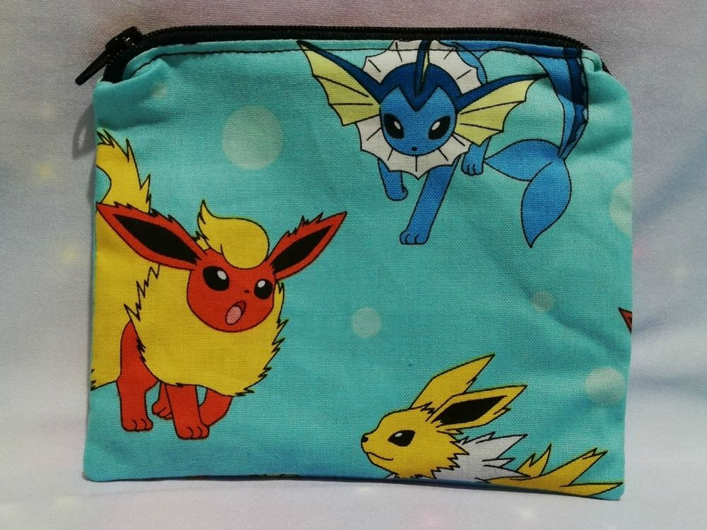 Zip Pouch Made With Eevee Evolutions Fabric