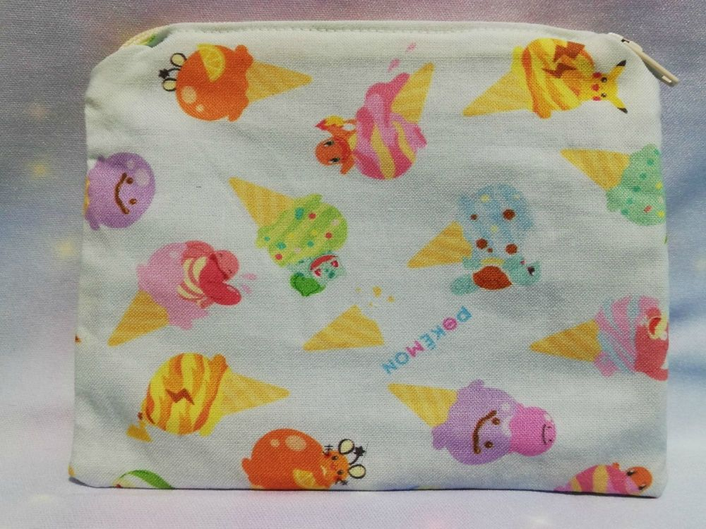 Zip Pouch Made With Pokemon Fabric - Icecreams