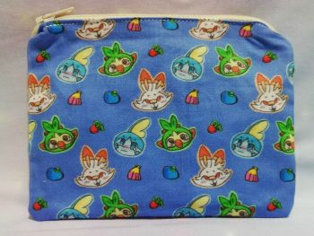 Zip Pouch Made With Pokemon Inspired Fabric - Galar Starters Exclusive