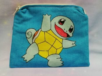 Zip Pouch Made With Vintage Pokemon Fabric - Choose Your Starter