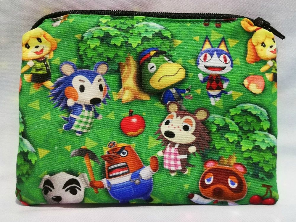 Zip Pouch Made With Animal Crossing Inspired Fabric