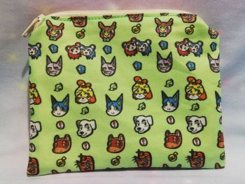 Zip Pouch Made With Animal Crossing inspired Fabric - Exclusive