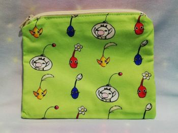 Zip Pouch Made With Pikmin Inspired Fabric - Exclusive