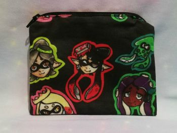 Zip Pouch Made With Large Scale Splatoon Inspired Fabric - Exclusive