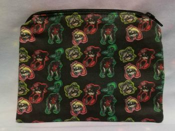 Zip Pouch Made With Small Scale Splatoon Inspired Fabric - Exclusive