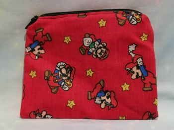Zip Pouch Made With Vintage Super Mario World Fabric