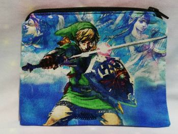 Zip Pouch Made With The Legend Of Zelda Fabric - Skyward Sword