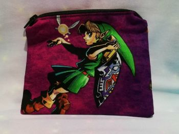 Zip Pouch Made With The Legend Of Zelda Fabric - Majoras Mask