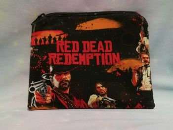 Zip Pouch Made With Red Dead Redemption Inspired Fabric