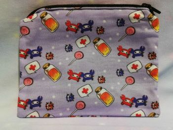 Zip Pouch Made With Team Fortress 2 Inspired Fabric - Exclusive