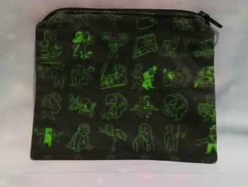 Zip Pouch Made With Fallout Inspired Fabric - Perks