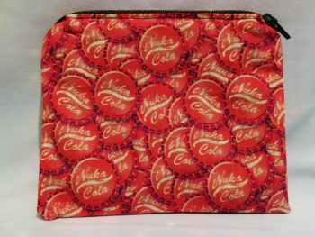 Zip Pouch Made With Fallout Inspired Fabric - Nuka Cola