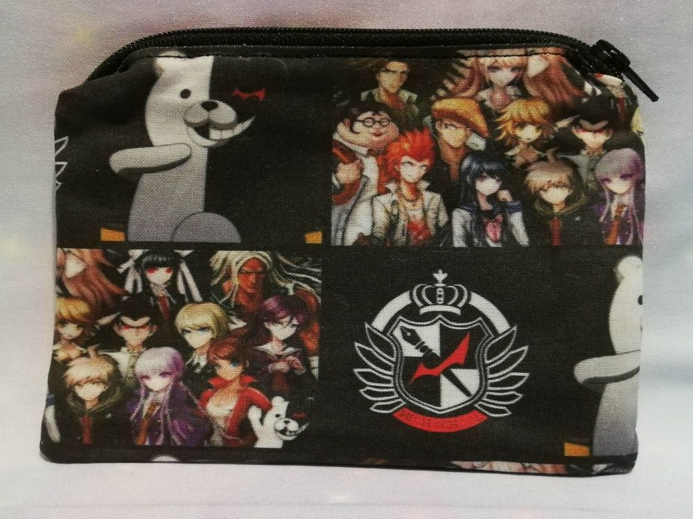 Zip Pouch Made With Danganronpa Inspired Fabric