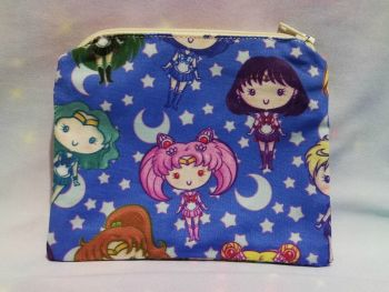 Zip Pouch Made With Sailor Moon Inspired Fabric