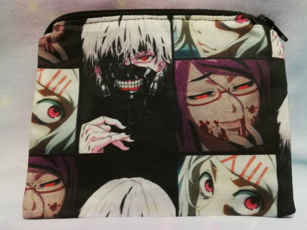 Zip Pouch Made With Tokyo Ghoul Inspired Fabric