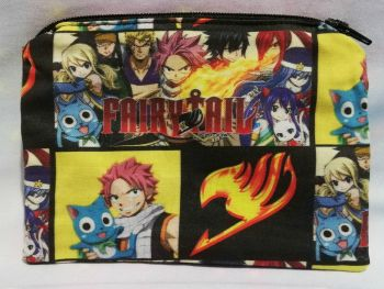 Zip Pouch Made With Fairy Tail Inspired Fabric