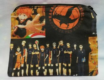 Zip Pouch Made With Haikyuu! Inspired Fabric