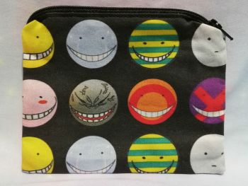 Zip Pouch Made With Large Scale Assassination Classroom Inspired Fabric