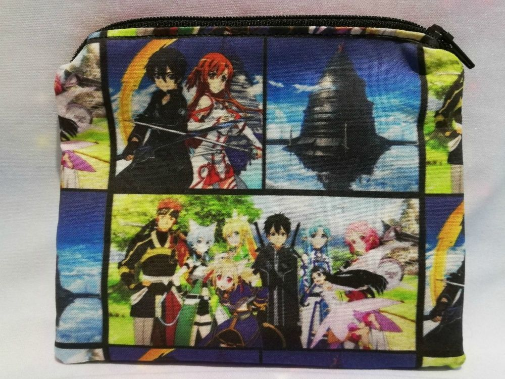 Zip Pouch Made With Sword Art Online inspired Fabric