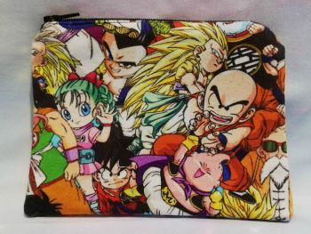 Zip Pouch Made With Dragon Ball Z Inspired Fabric