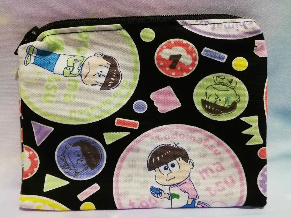 Zip Pouch Made With Osomatsu Fabric