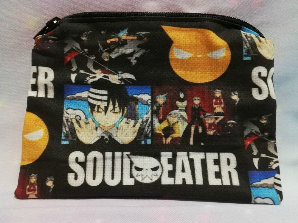 Zip Pouch Made With Soul Eater Inspired Fabric