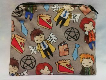 Zip Pouch Made With Supernatural Inspired Fabric