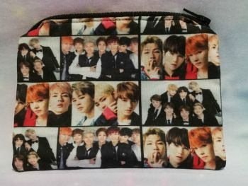 Zip Pouch Made With BTS inspired Fabric
