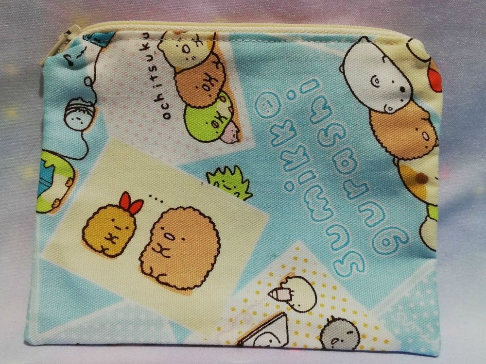 Zip Pouch Made With Summikko Gurashi Fabric