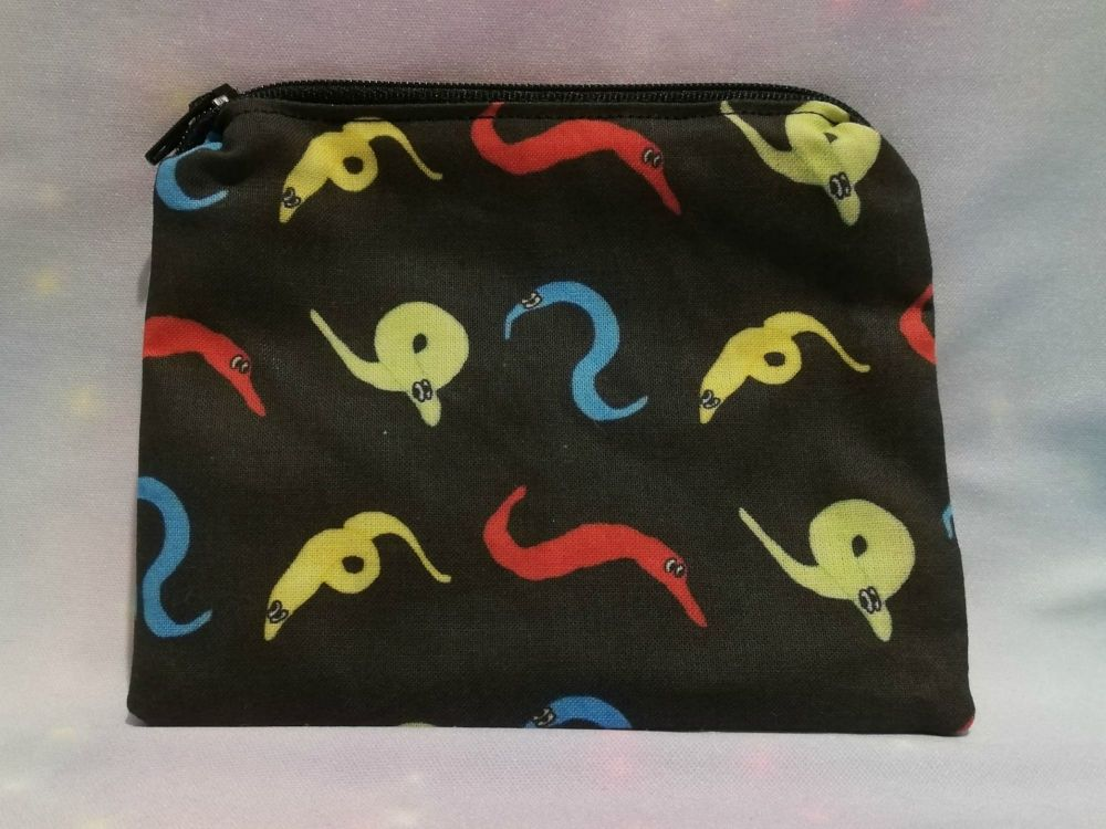 Zip Pouch Made With Worm On A String Fabric - Exclusive