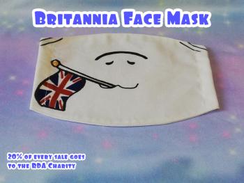 Fashion Face Mask UK Ponycon Mascot Britannia
